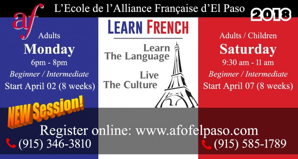 French classes Spring 2018-2