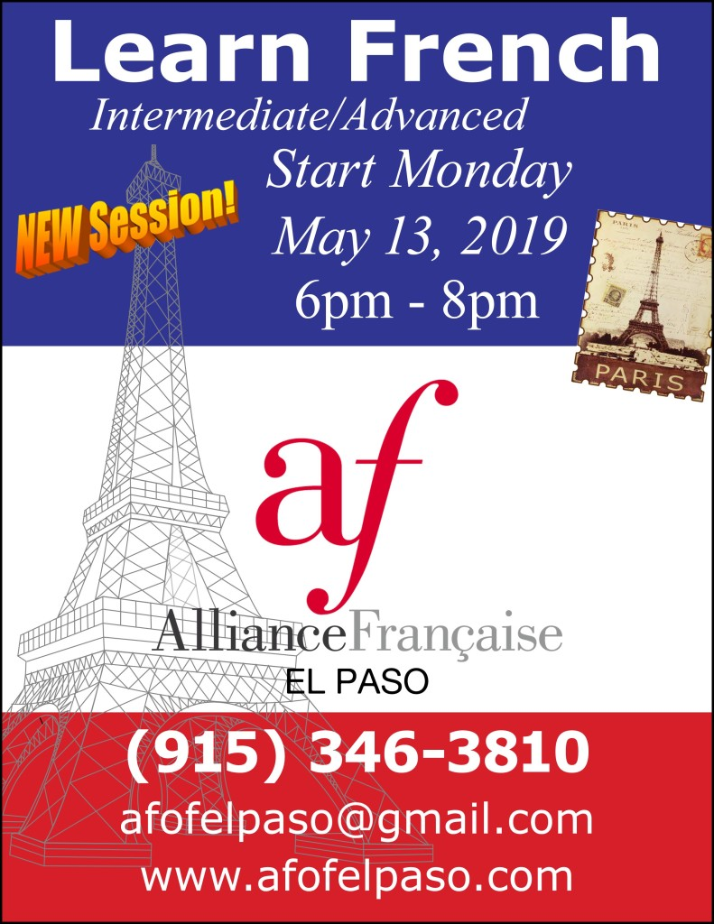 Learn French new session may 2019
