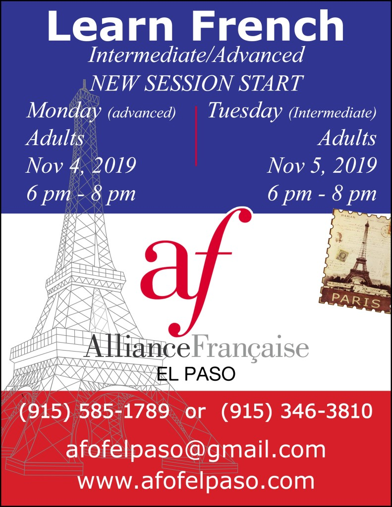 Learn French session 2 Fall 2019
